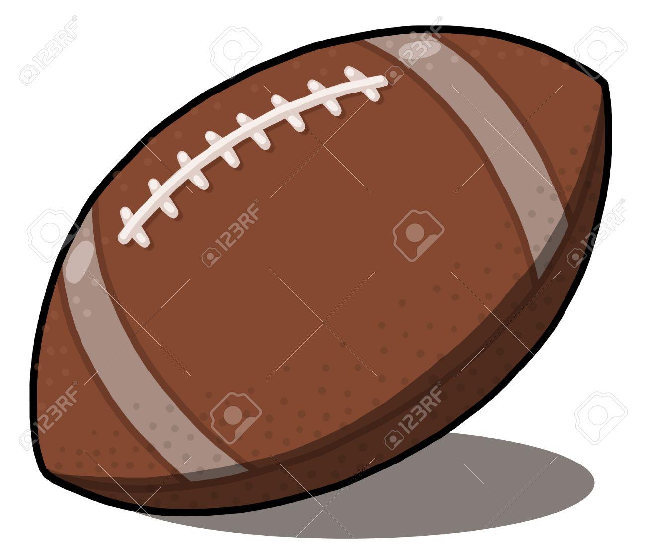 American Football ball Illustration; rugby ball illustration Stock Illustration - 9640754