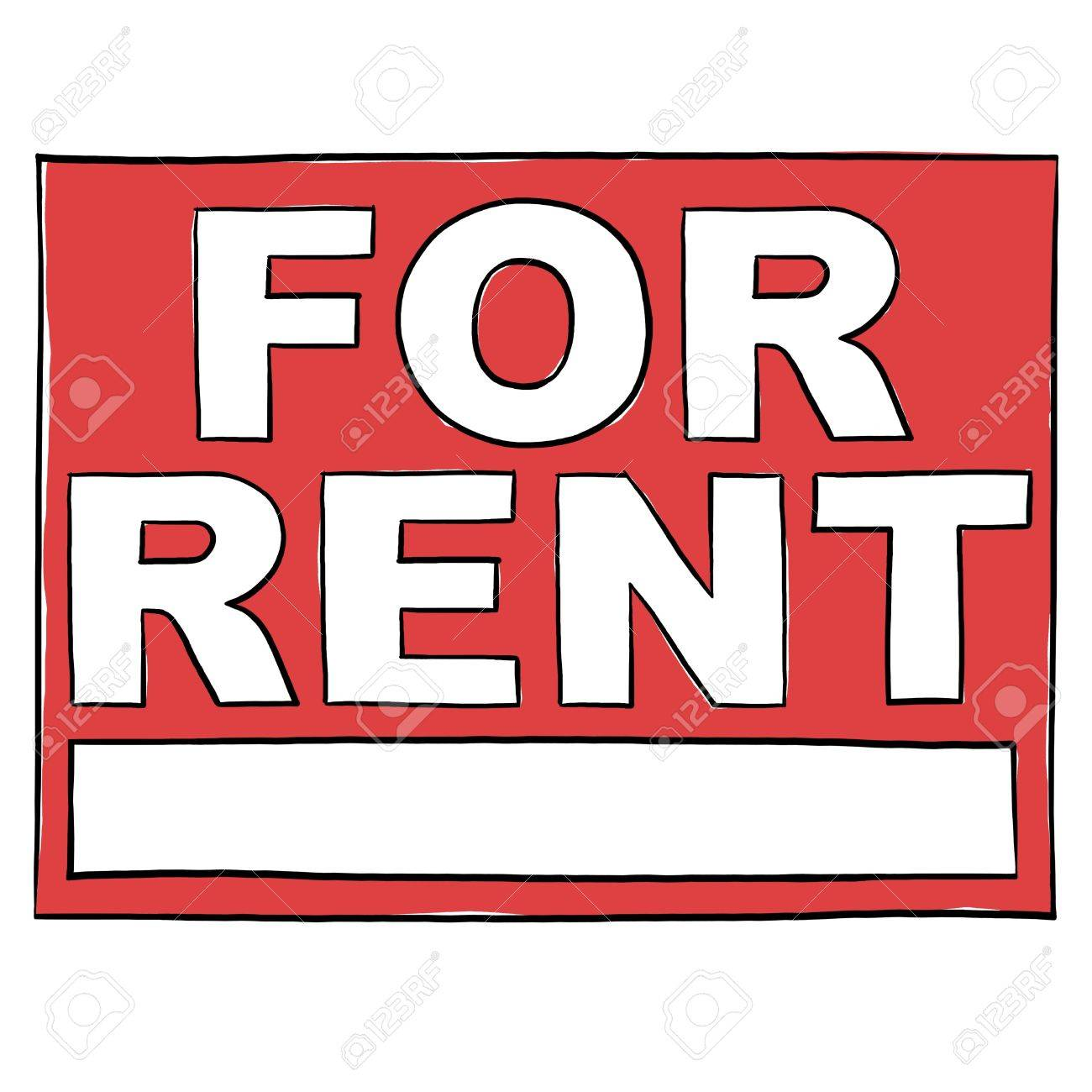 Property For Rent Sign; For Rent Real Estate Sign Stock Photo - 9640756