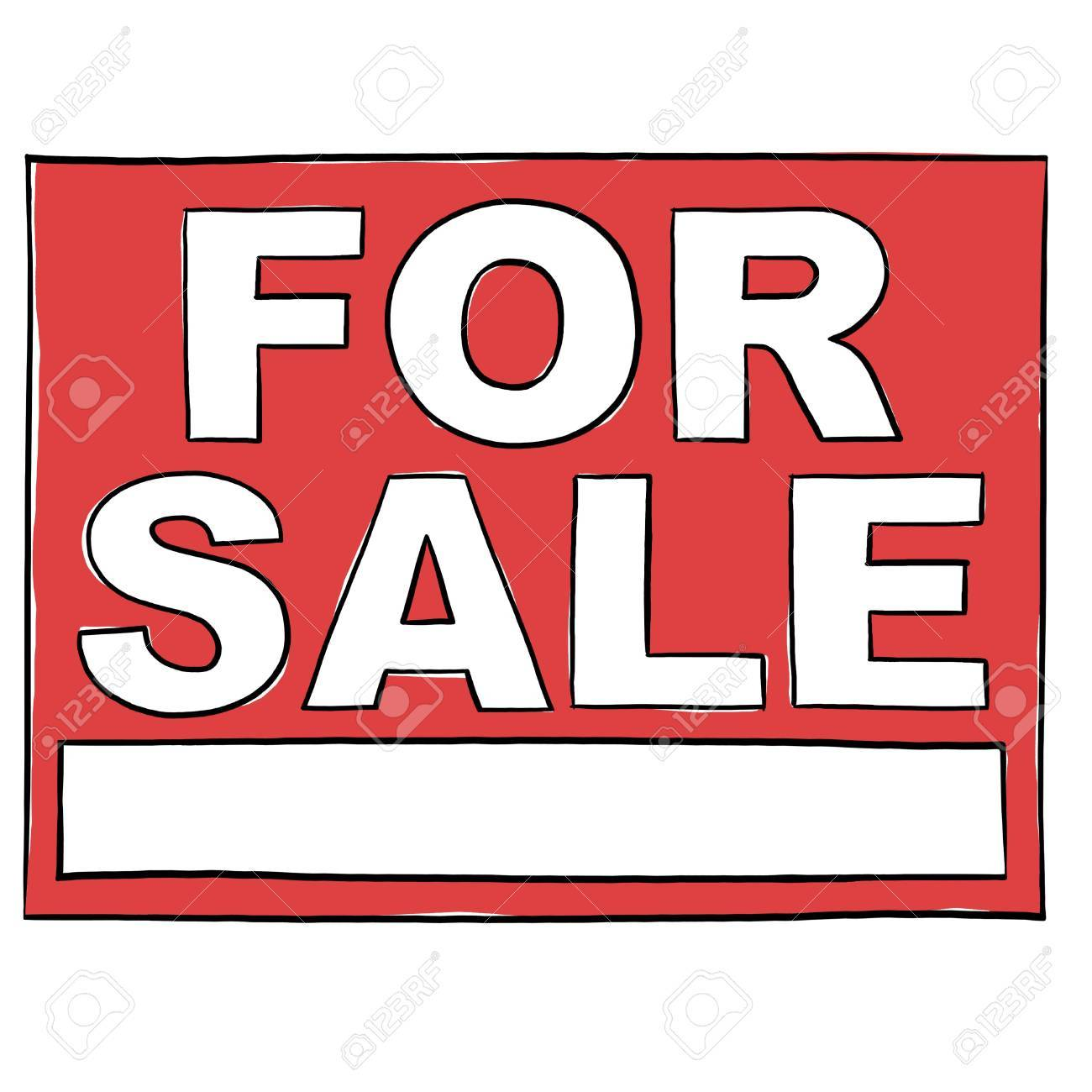 Property For Sale Sign illustration; For Sale Real Estate Sign Stock Illustration - 9640757