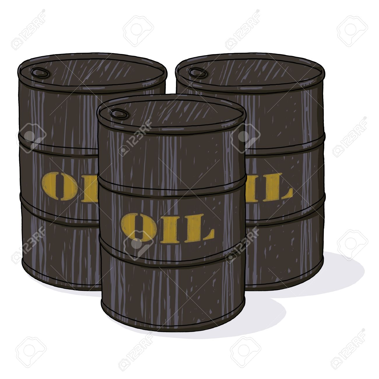 Oil Barrel Drawing Oil Barrels Illustration
