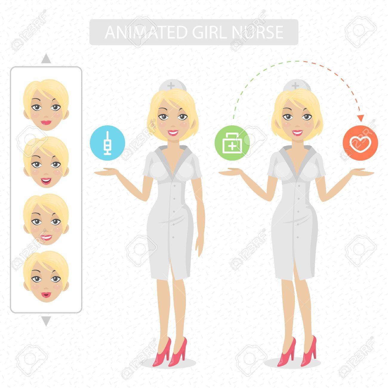 Nurse tells and represents Stock Vector - 20192863