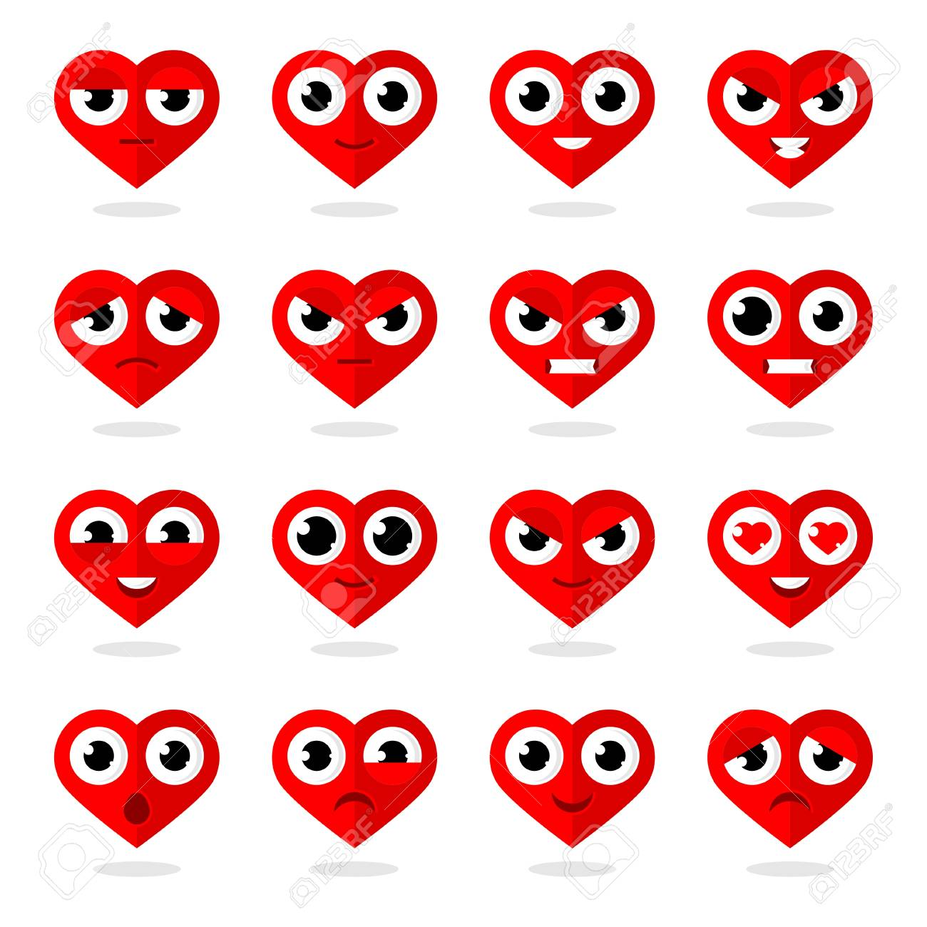 Icons heart smilies Stock Vector - 21648750