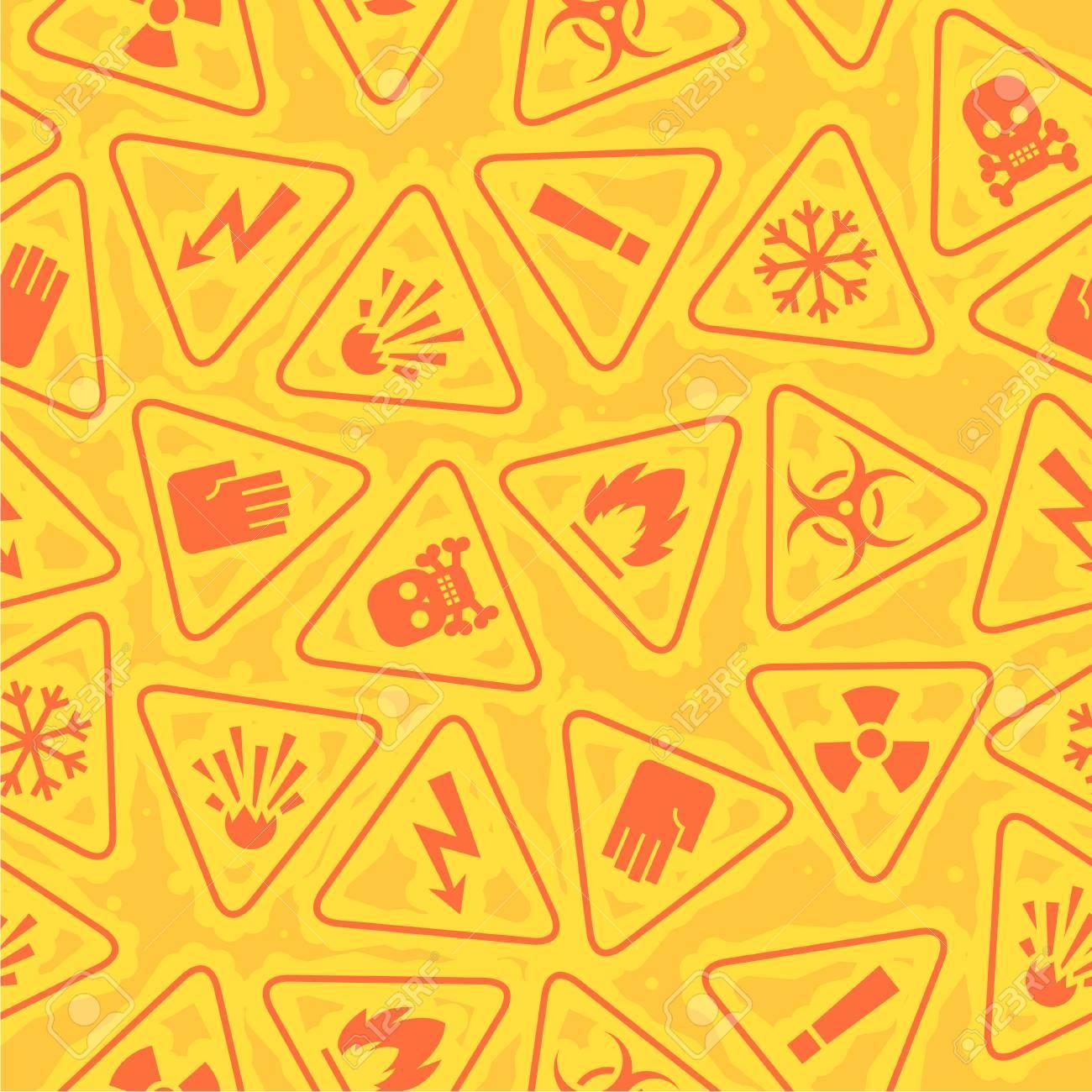 Pattern warning signs of danger Stock Vector - 25122956