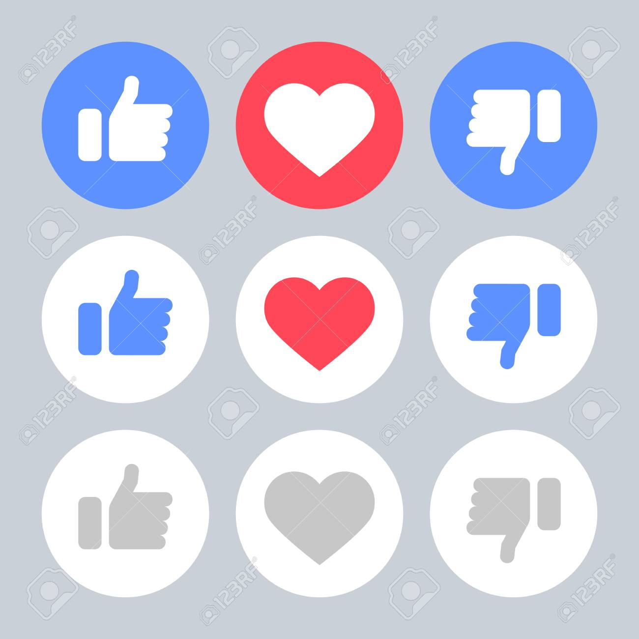 Set Icons Like Do Not Like Heart Icons Objects Royalty Free