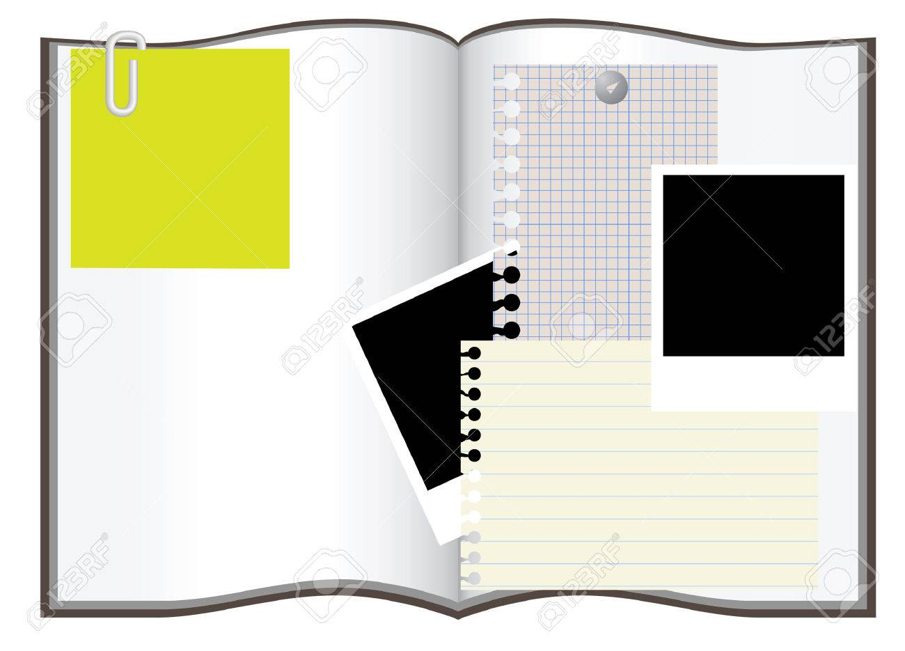 copybook and other copyspace vector illustration Stock Vector - 2553844