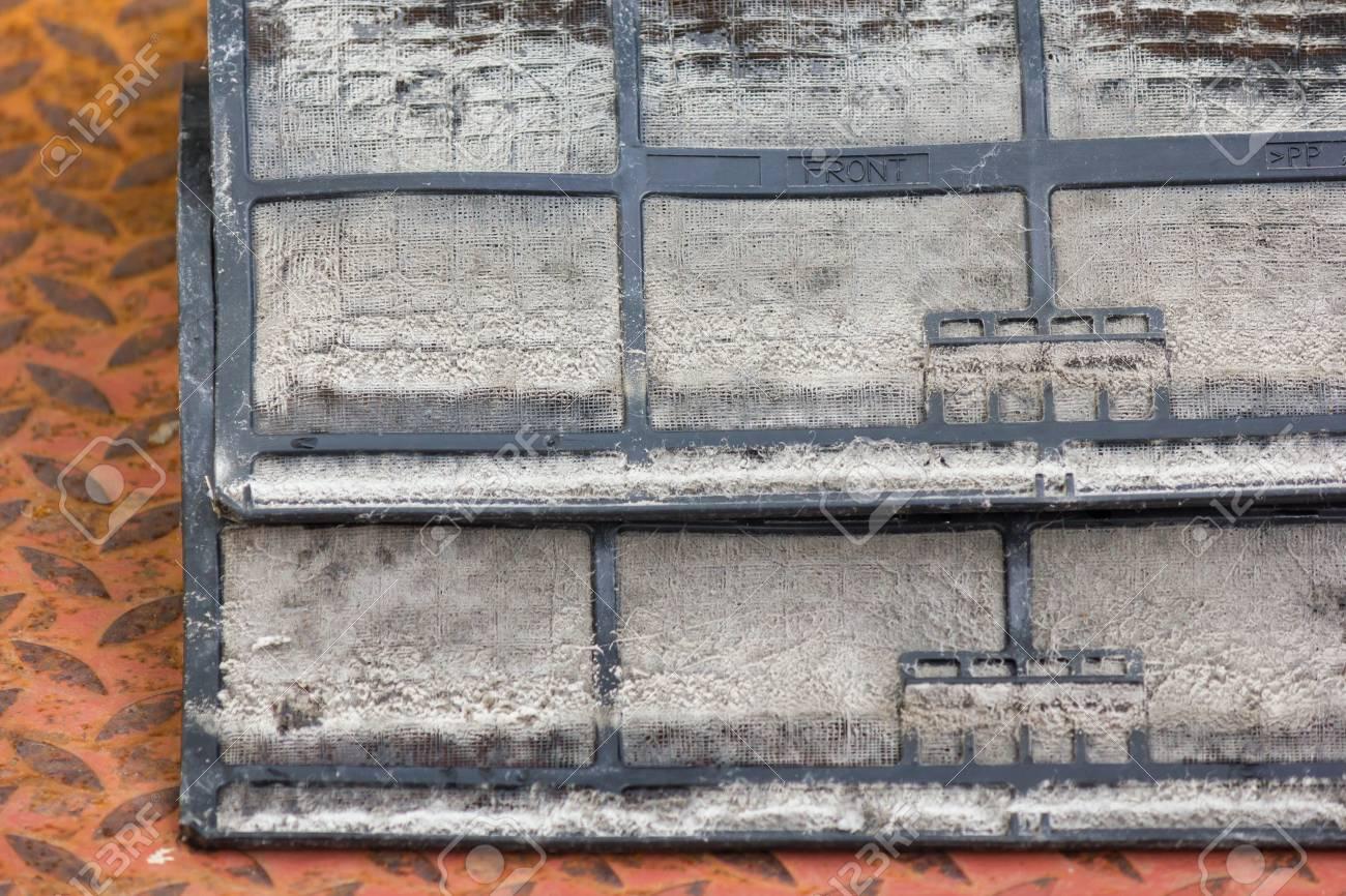 Closeup Dirty air conditioning filter Stock Photo - 96349741