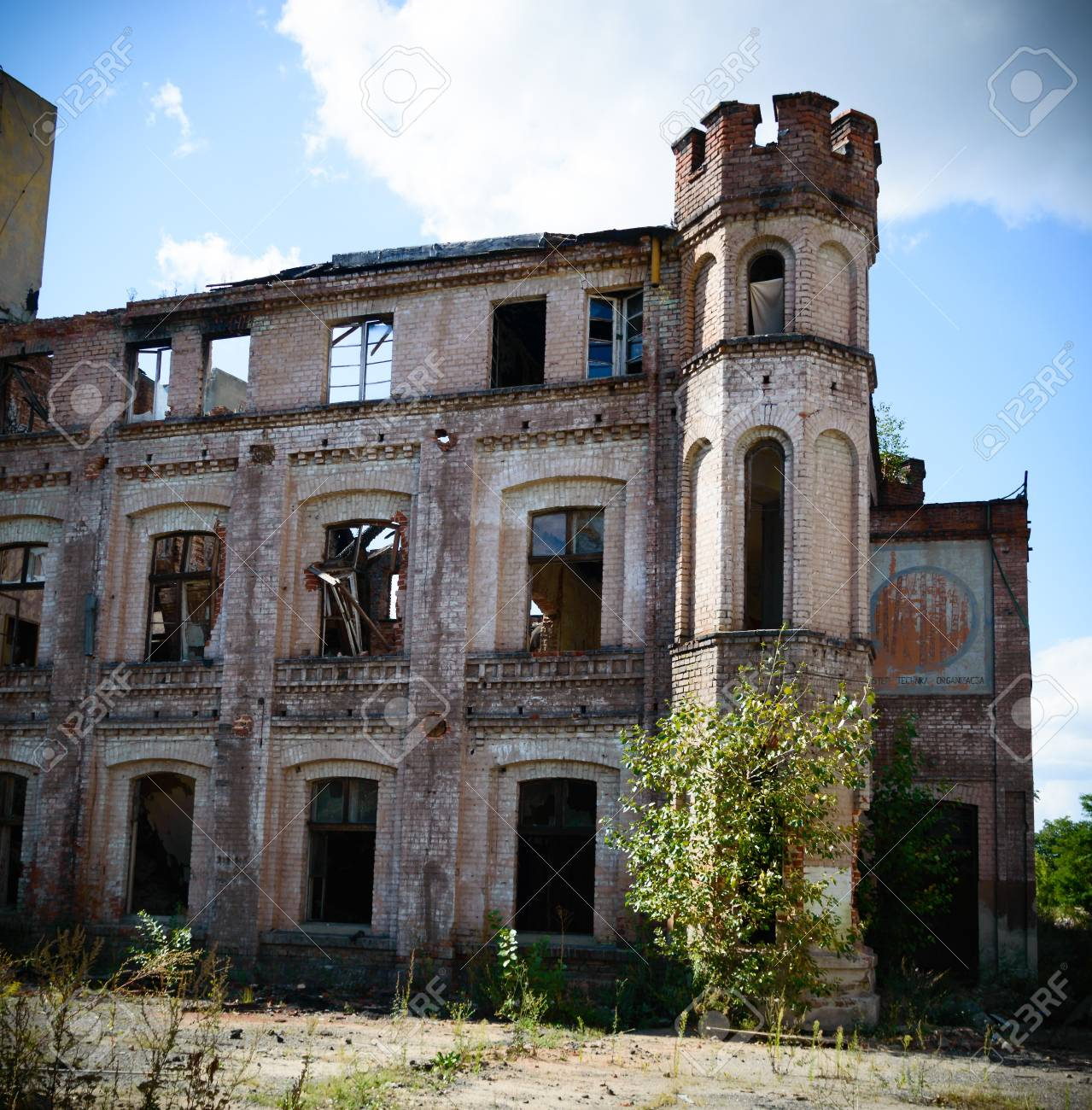 ruins of a very heavily polluted industrial factory, place was known as one of the most polluted towns in Europe Stock Photo - 22120921