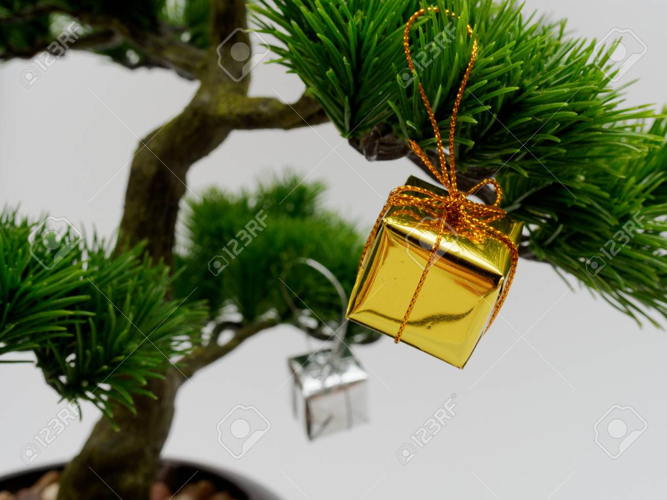 Christmas Decoration Or Ornament Hang On Artificial Bonsai Tree Stock Photo Picture And Royalty Free Image Image 91240006