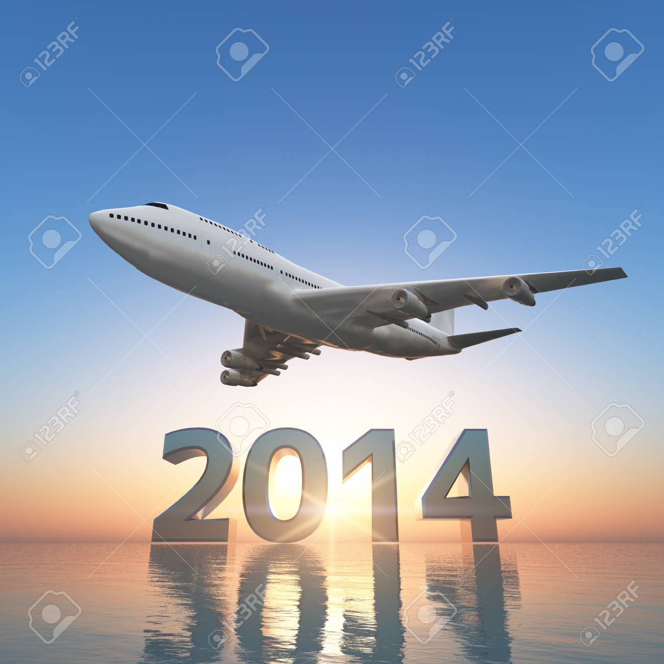 2014 and airplane - 21035308