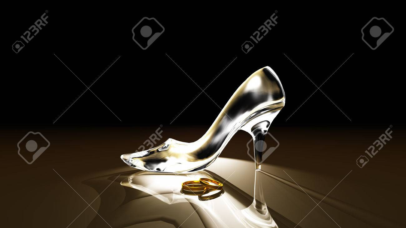 glass shoes Stock Photo - 35218871