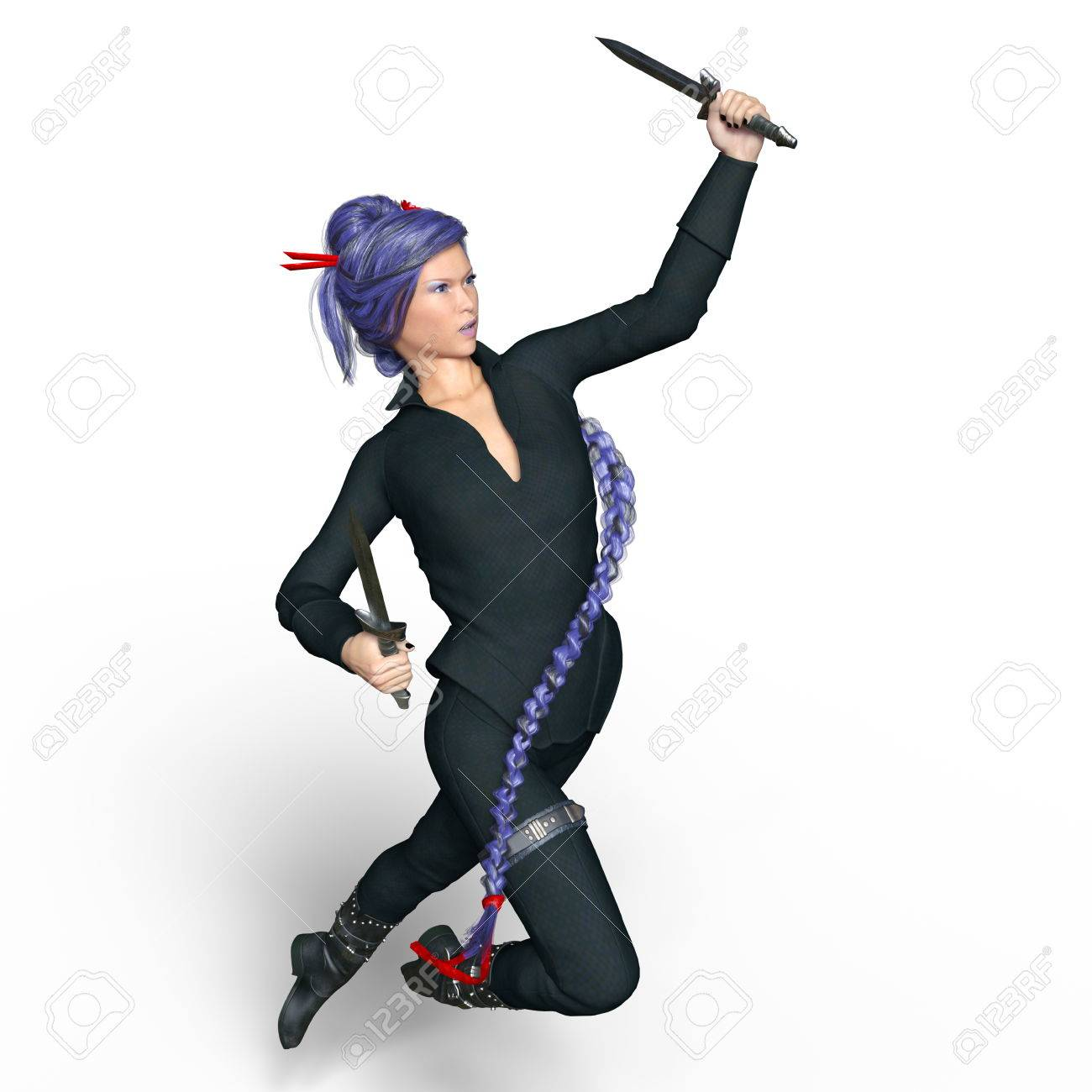 Female Ninja Stock Photo Picture And Royalty Free Image Image