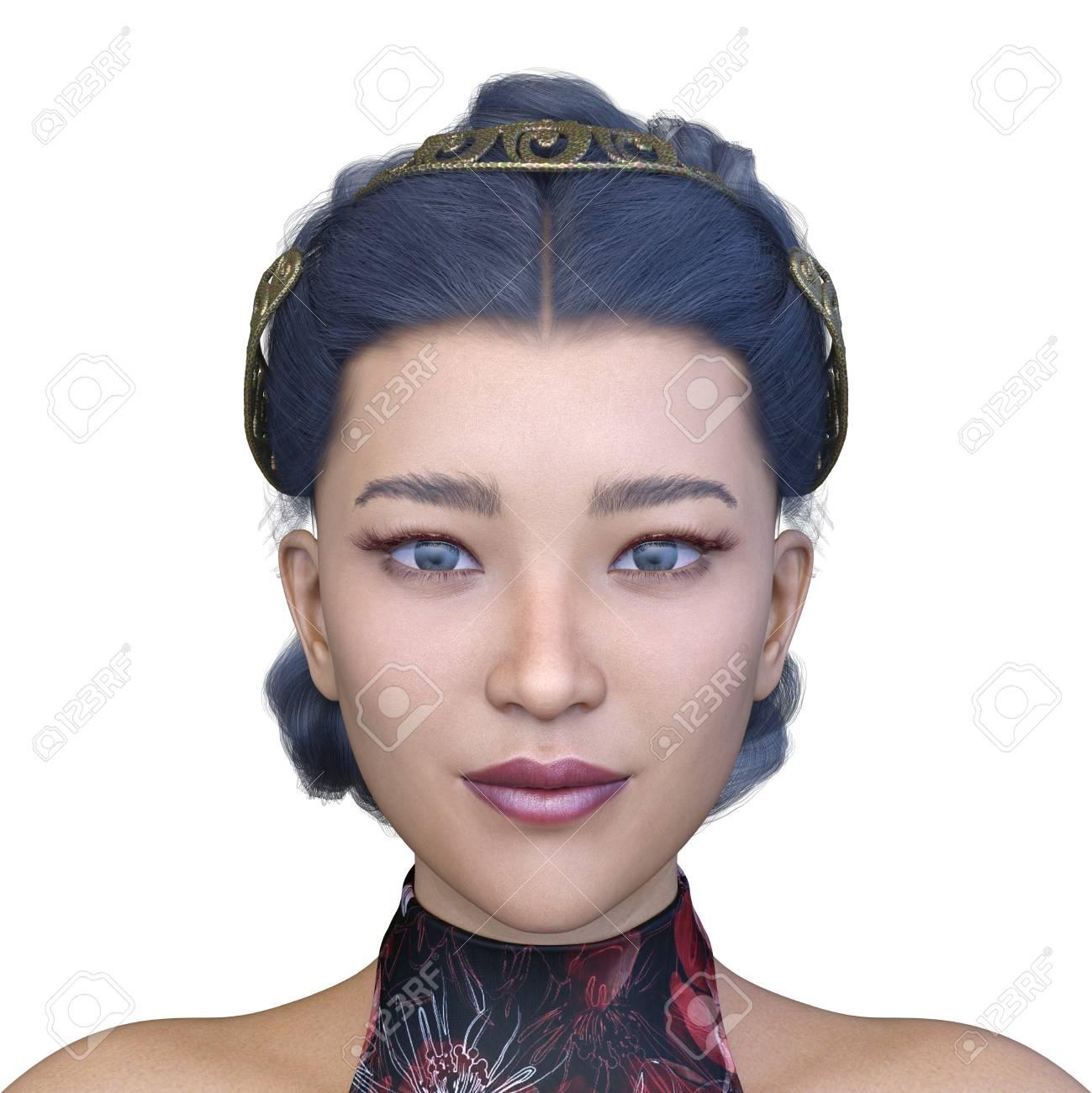 3D Asian Girl 3d cg rendering of asian girl