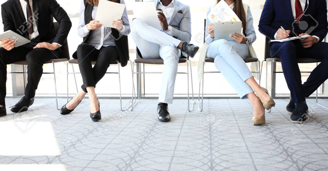 Business people waiting for job interview - 60524285