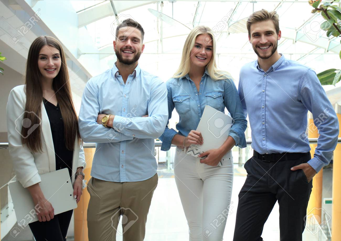 Young Modern Colleagues In Smart Casual