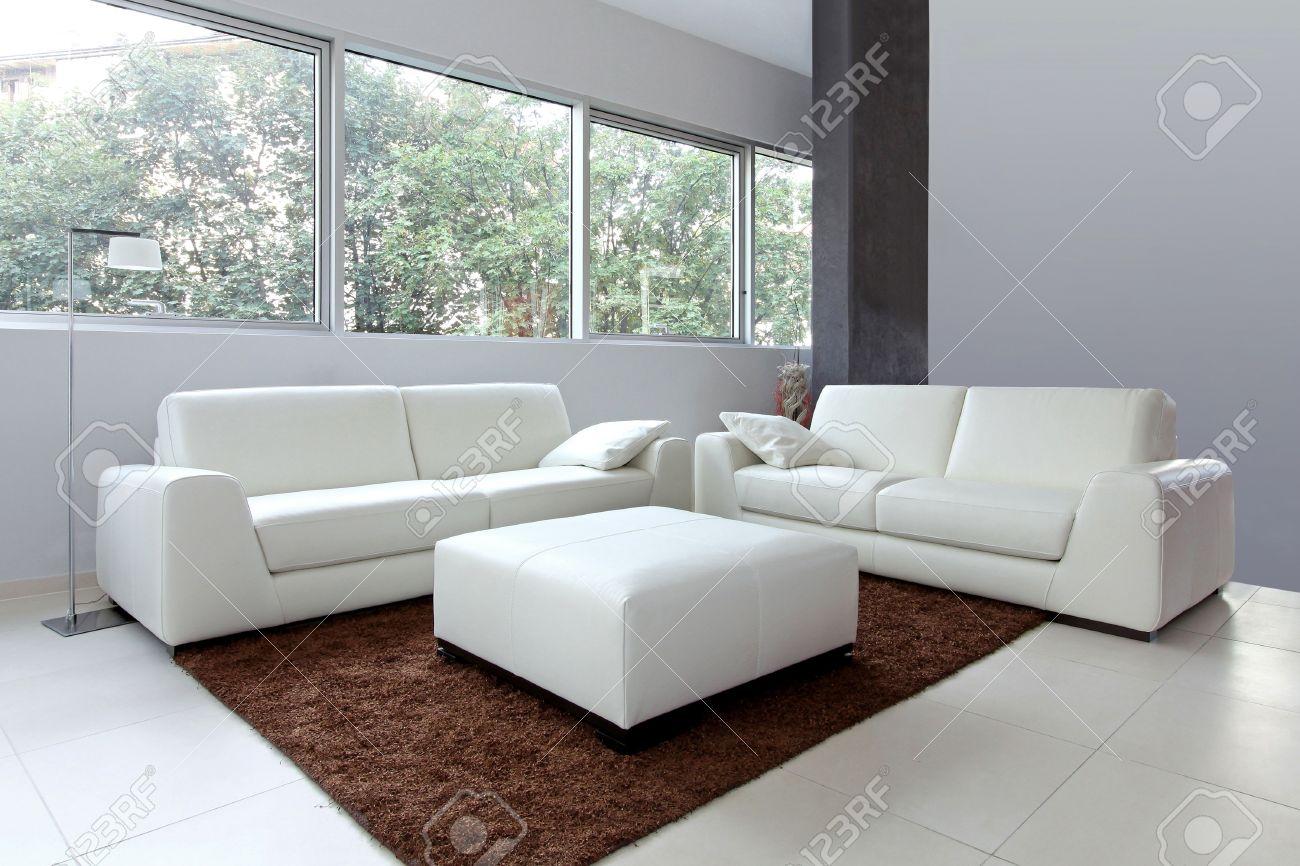 Living Room Modern White Living Room Furniture modern living room interior with white furniture stock photo furniture
