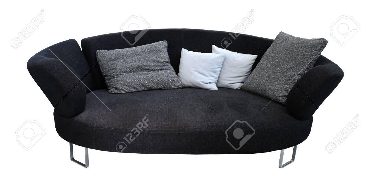 Modern Oval Sofa Isolated Stock Photo   12991864