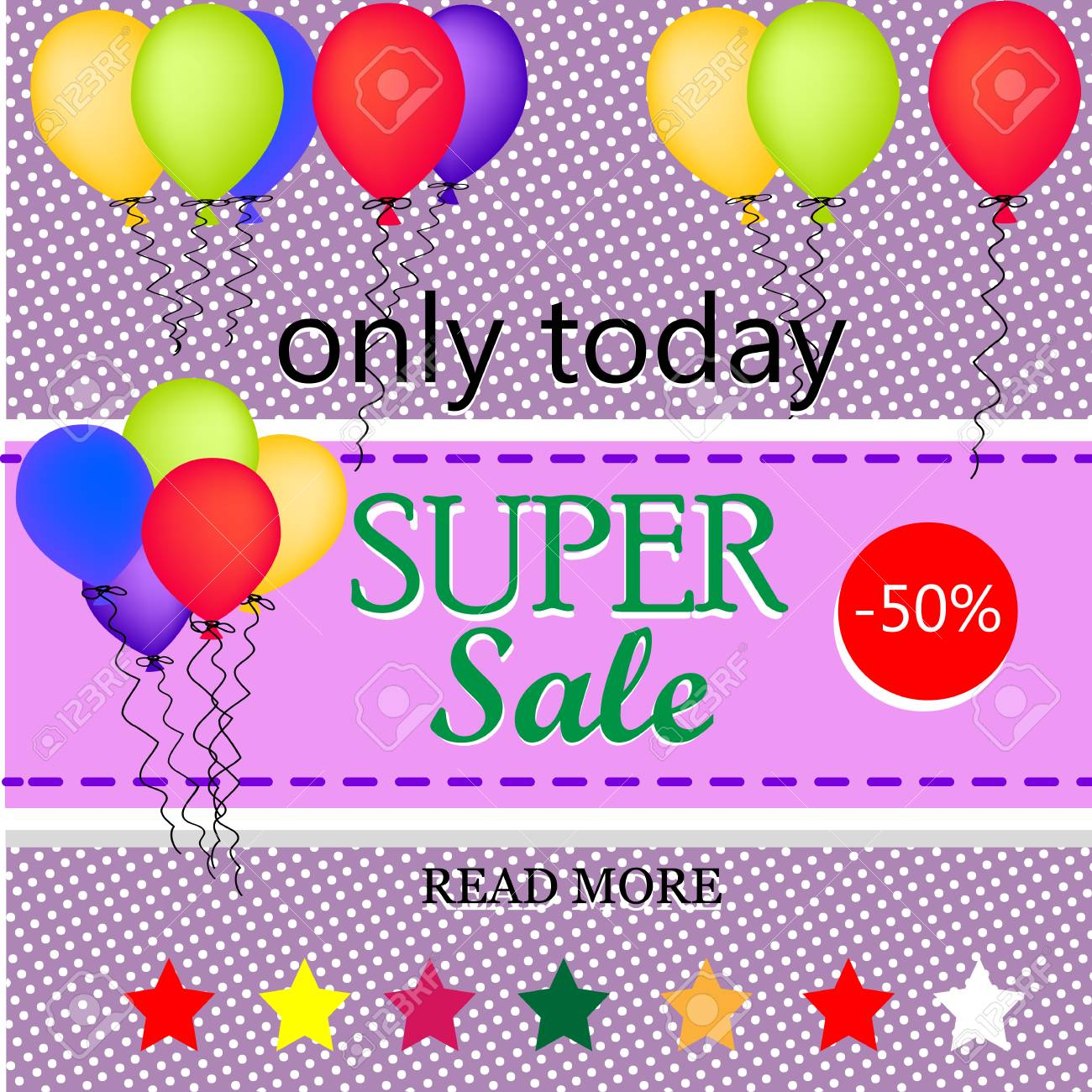 sale background with balloons sale template big sale sale