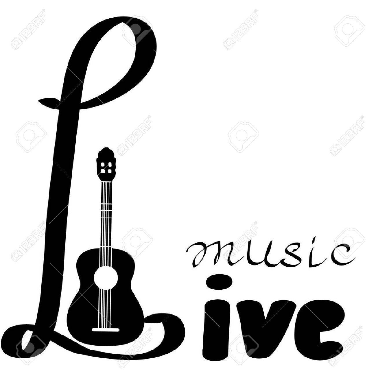 Live-Musik-Vektor-Plakat Vorlage. In Clubs, Bars, Pubs Und ...