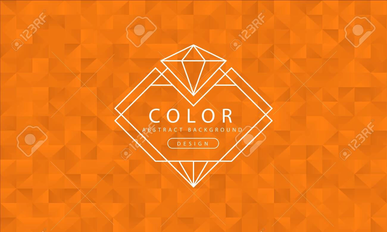 127660866 abstract orange background orange textures banner orange wallpaper polygon orange color vector illus