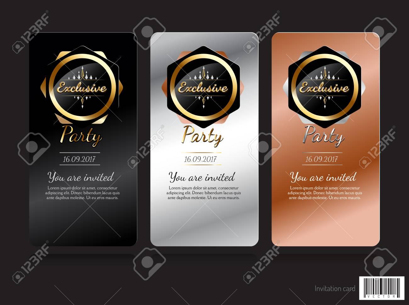 Invitation Card Exclusive Concept Design Vector File