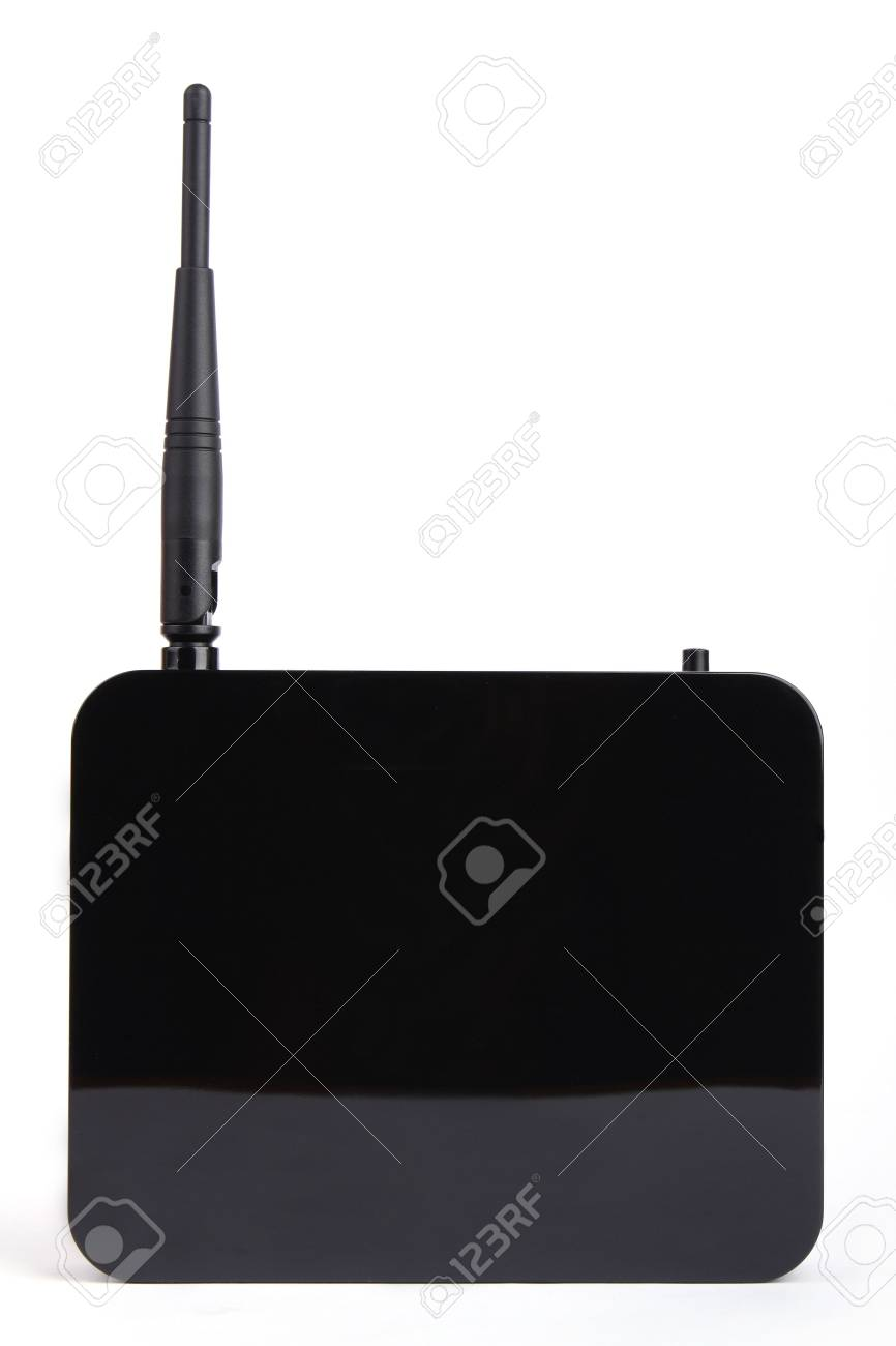 Front view wireless modem isolated on white background Stock Photo - 8164342