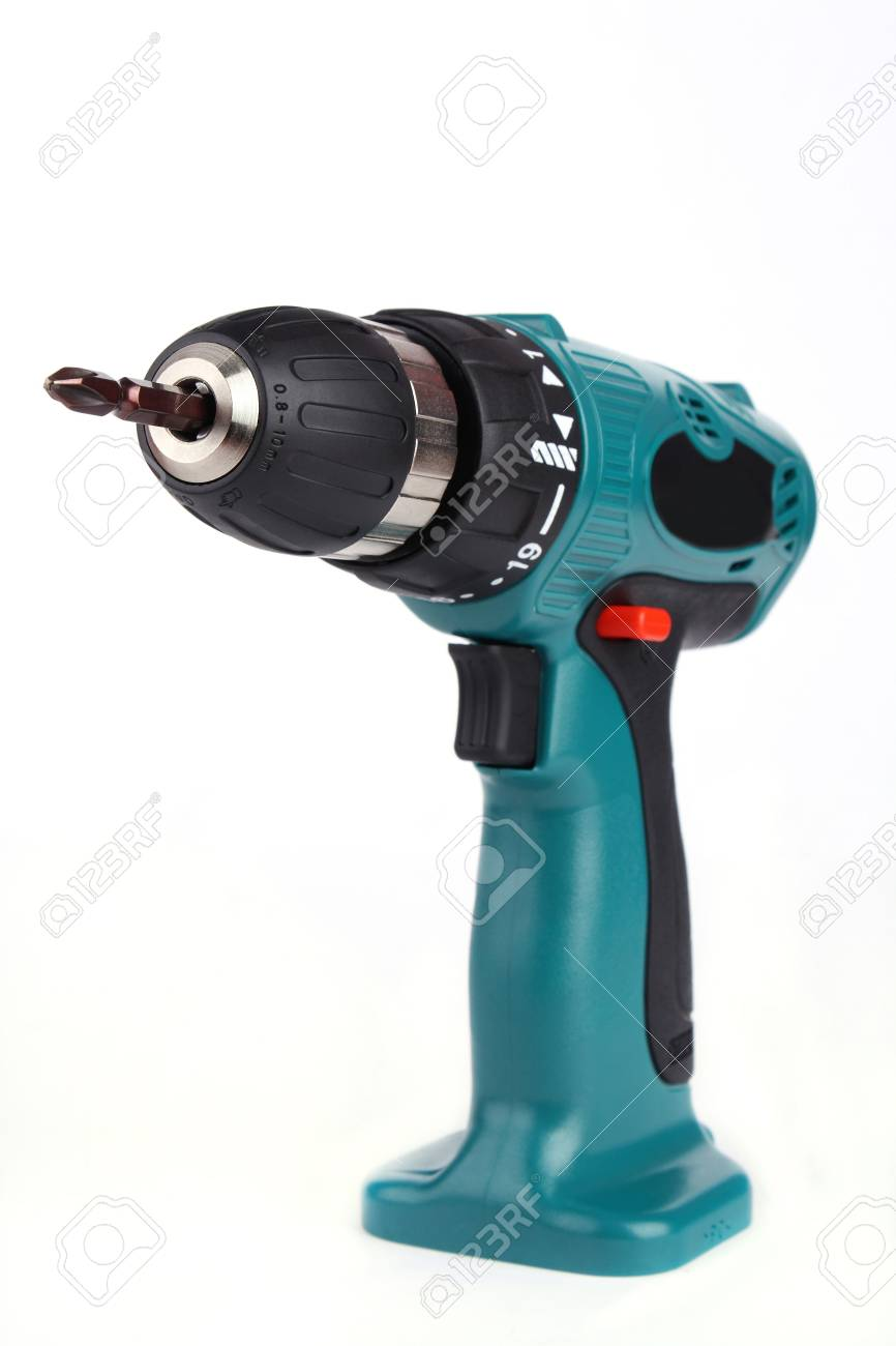 A Cordless Drill isolated on white background Stock Photo - 8247636