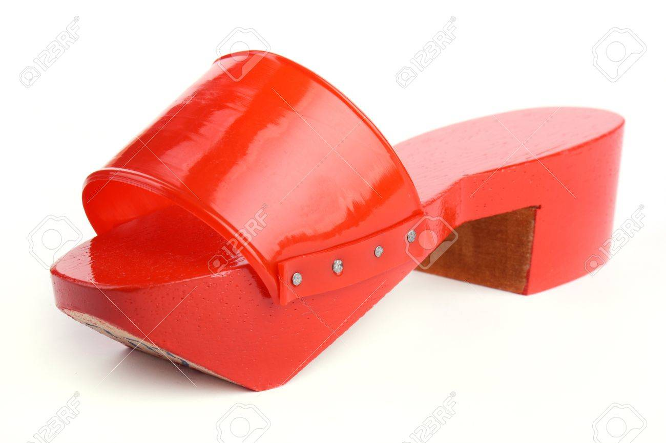 8446792-red-wooden-clogs-isolated-on-whi