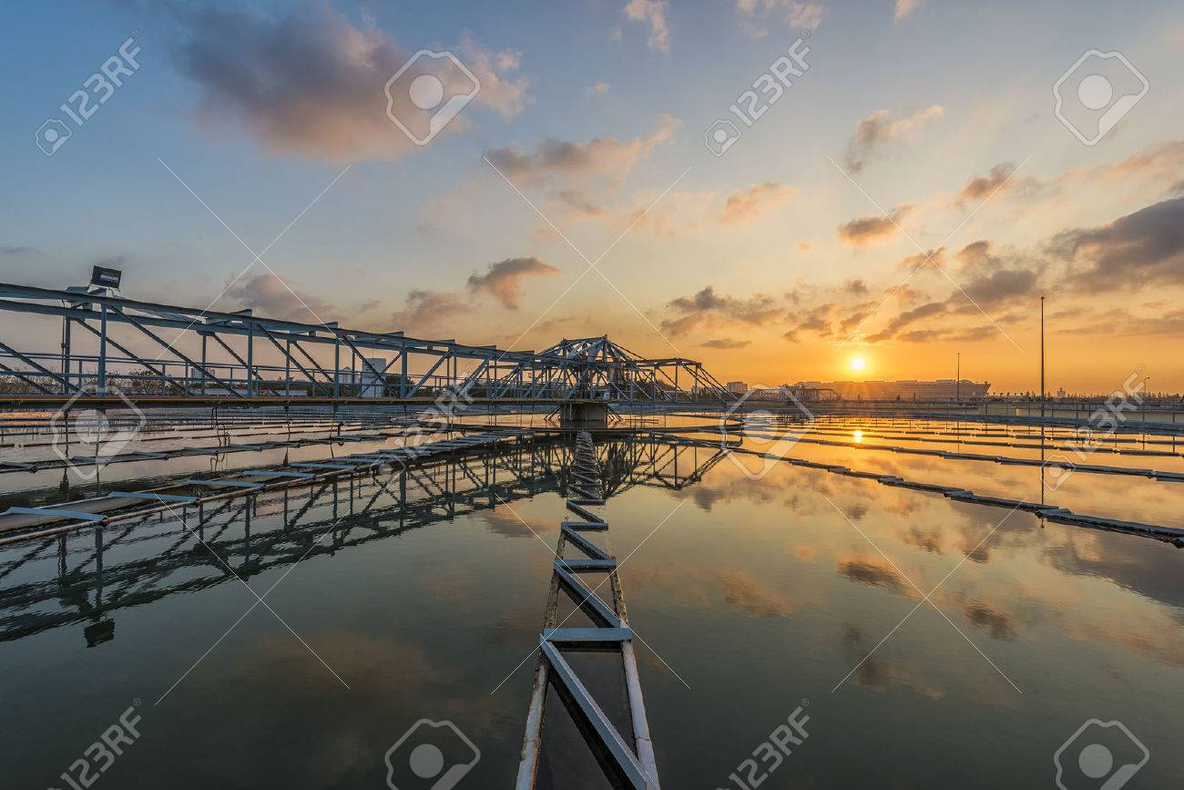 The Solid Contact Clarifier Tank type Sludge Recirculation process in Water Treatment plant with Sun Rise - 50103221