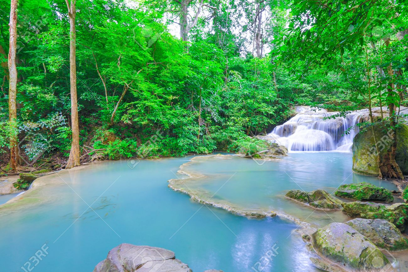 Erawan waterfall National Park Kanjanaburi Thailand - 22270312