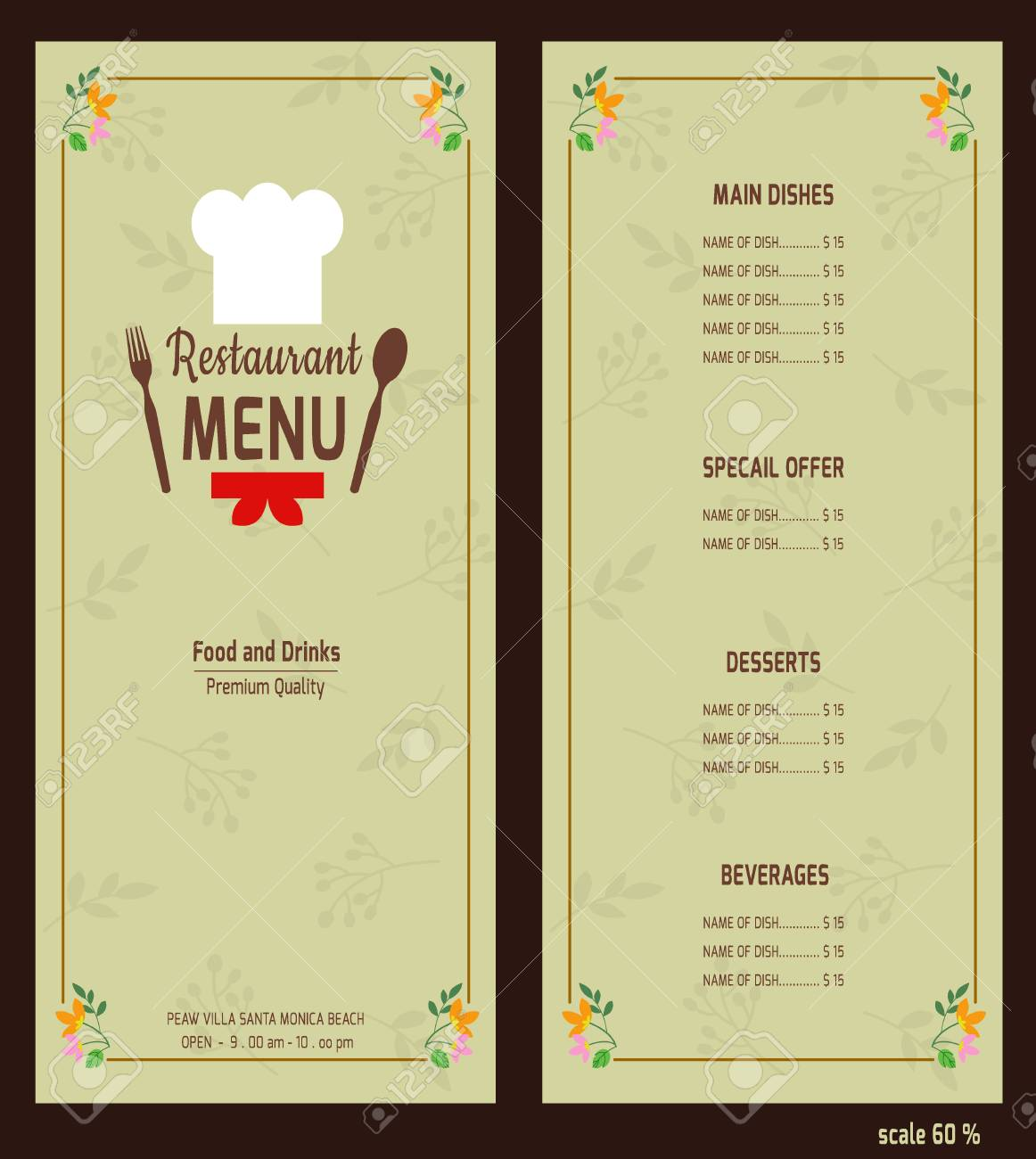 Restaurant Menu Design Template Vector Royalty Free Cliparts Vectors And Stock Illustration Image 37361988