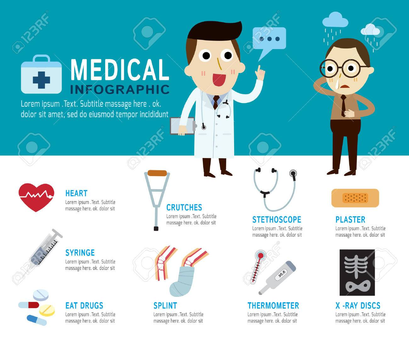 medical Concept.infographic elements.modern flat icon.vector illustration. - 41700169