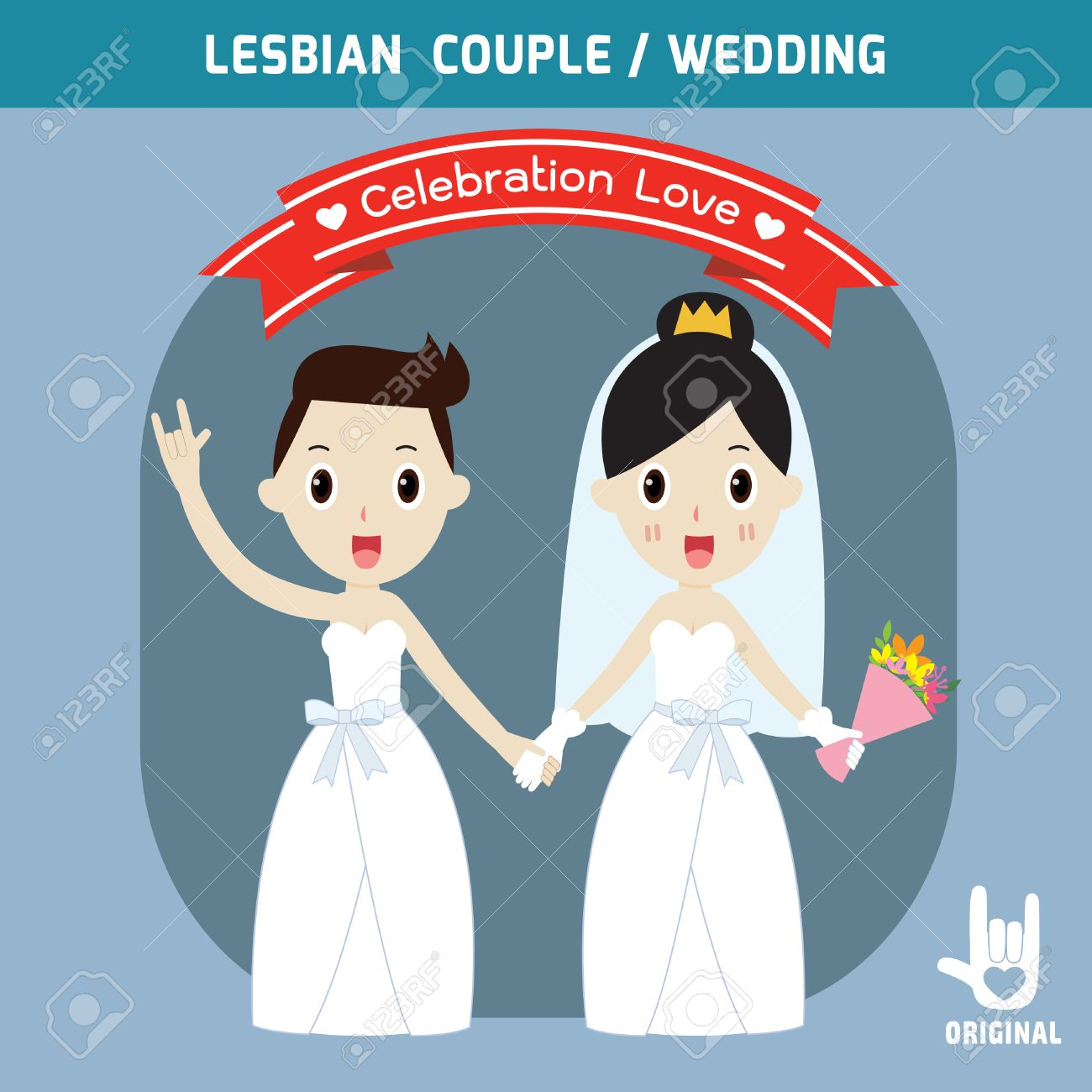 lesbian wedding couples holding hands.spouse,bridal people couple