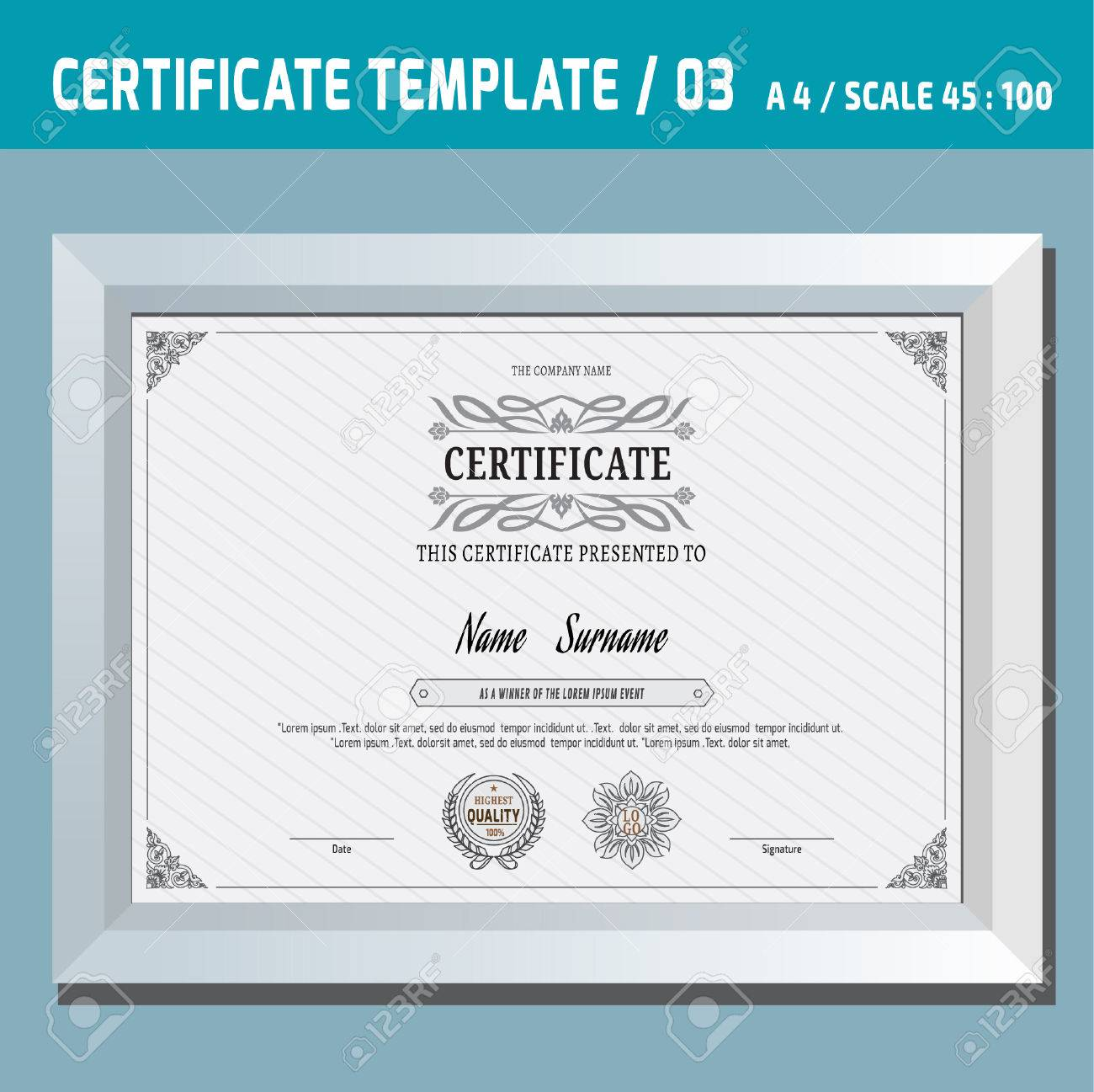 Certificate templatea4eyctor design templatentage retro certificate templatea4eyctor design templatentage retro frame diploma background yadclub Choice Image