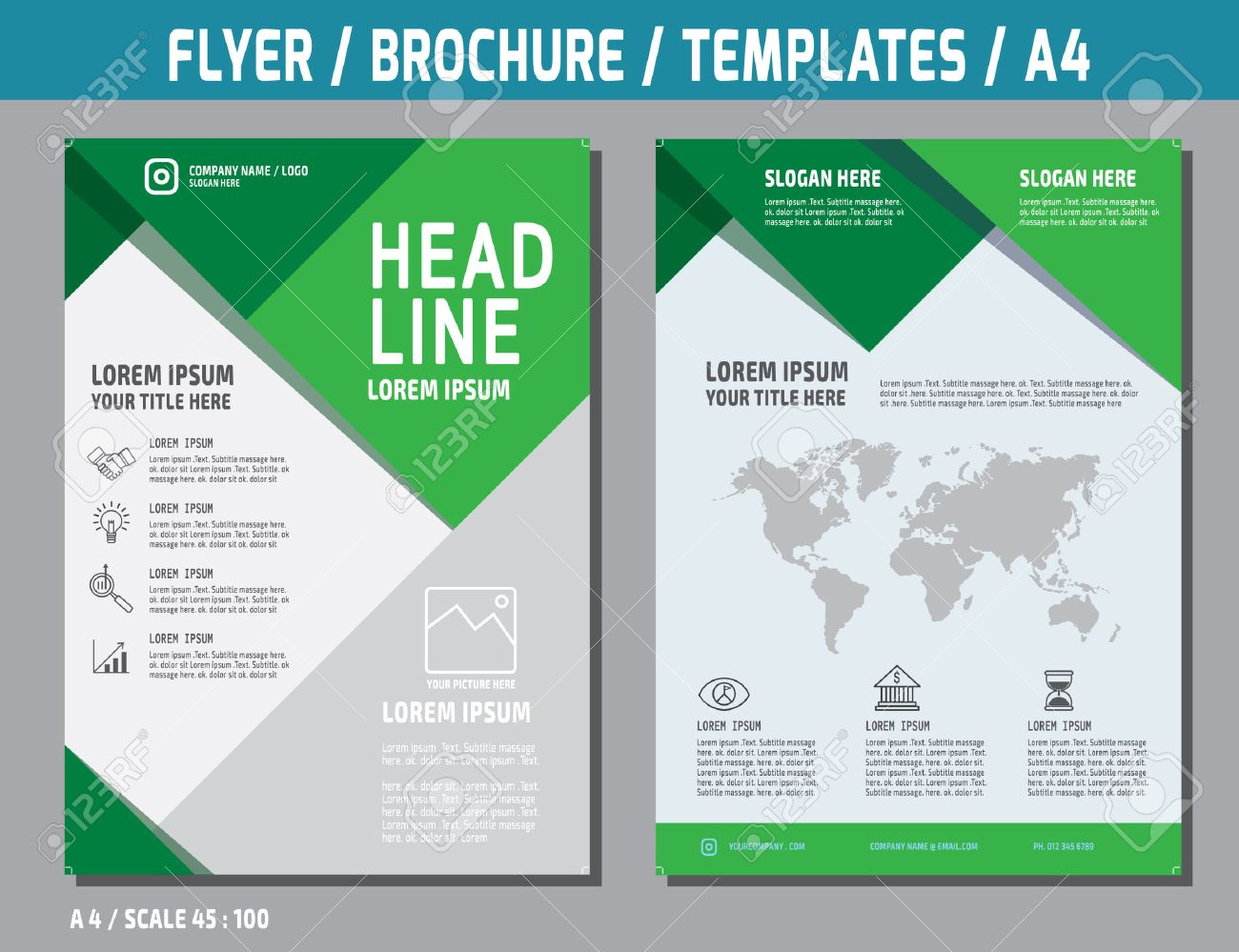 Flyer Design Vector Template In A Sizebrochure Booklet Cover - Brochure booklet templates
