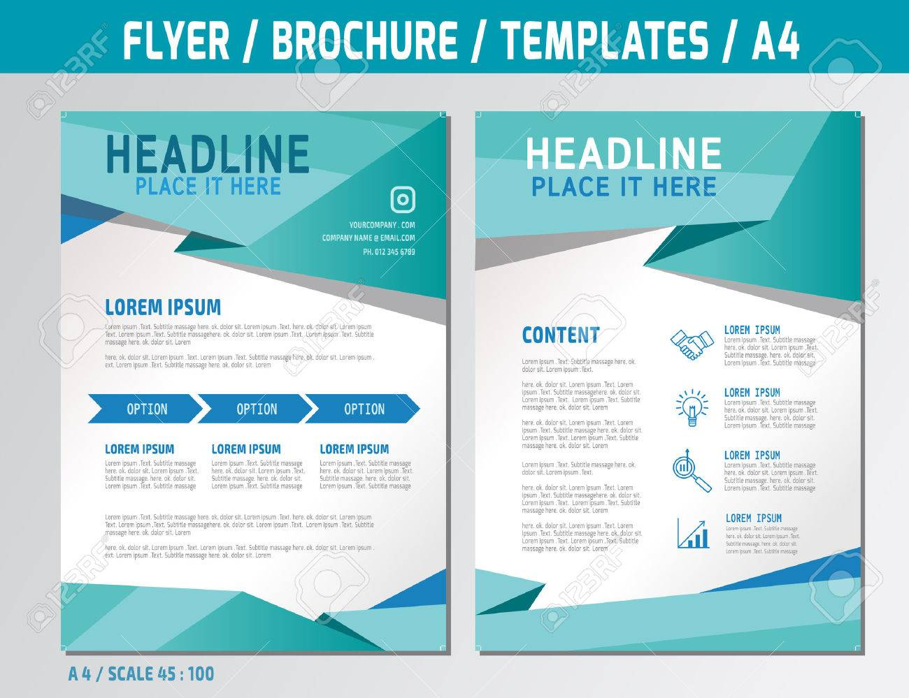 flyer design template in a4 size medical concept illustration
