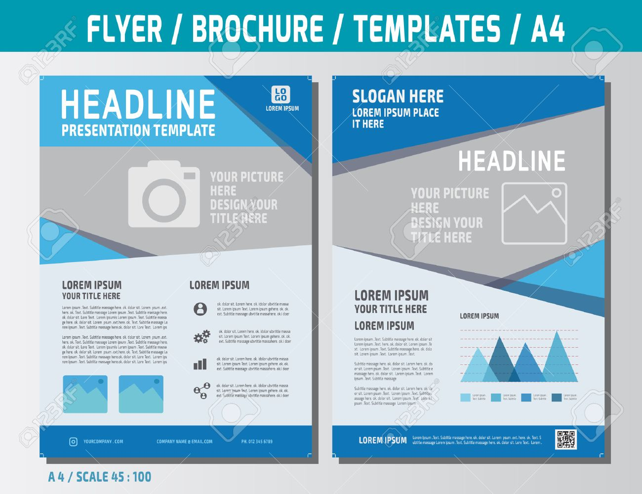 Flyer Multipurpose Design Template In A4 Size. Business Marketing ...