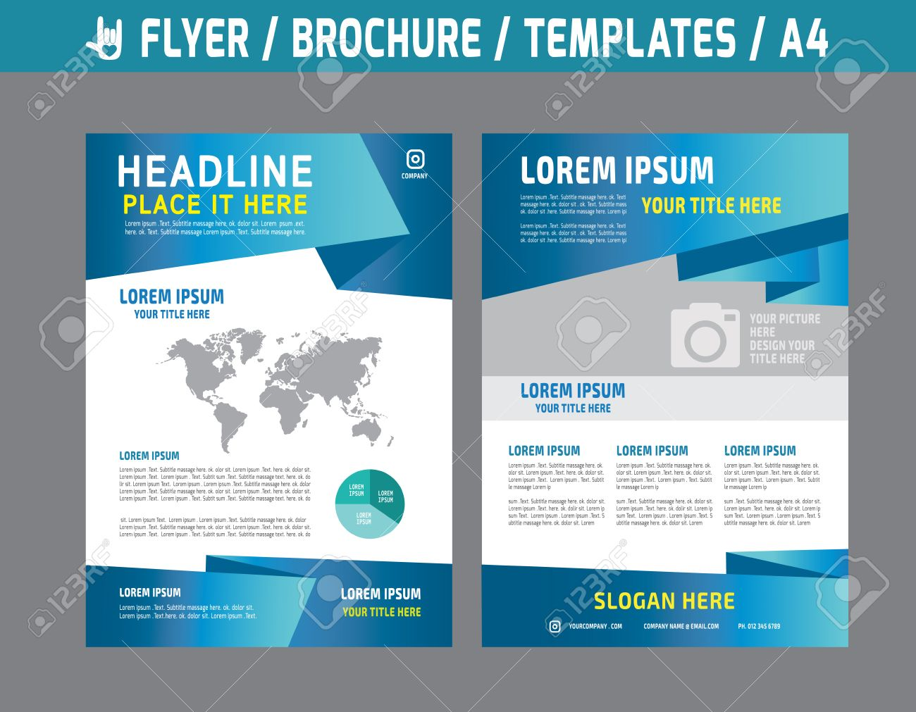 Flyer Multipurpose Design Vector Template In A4 Size.abstract ...