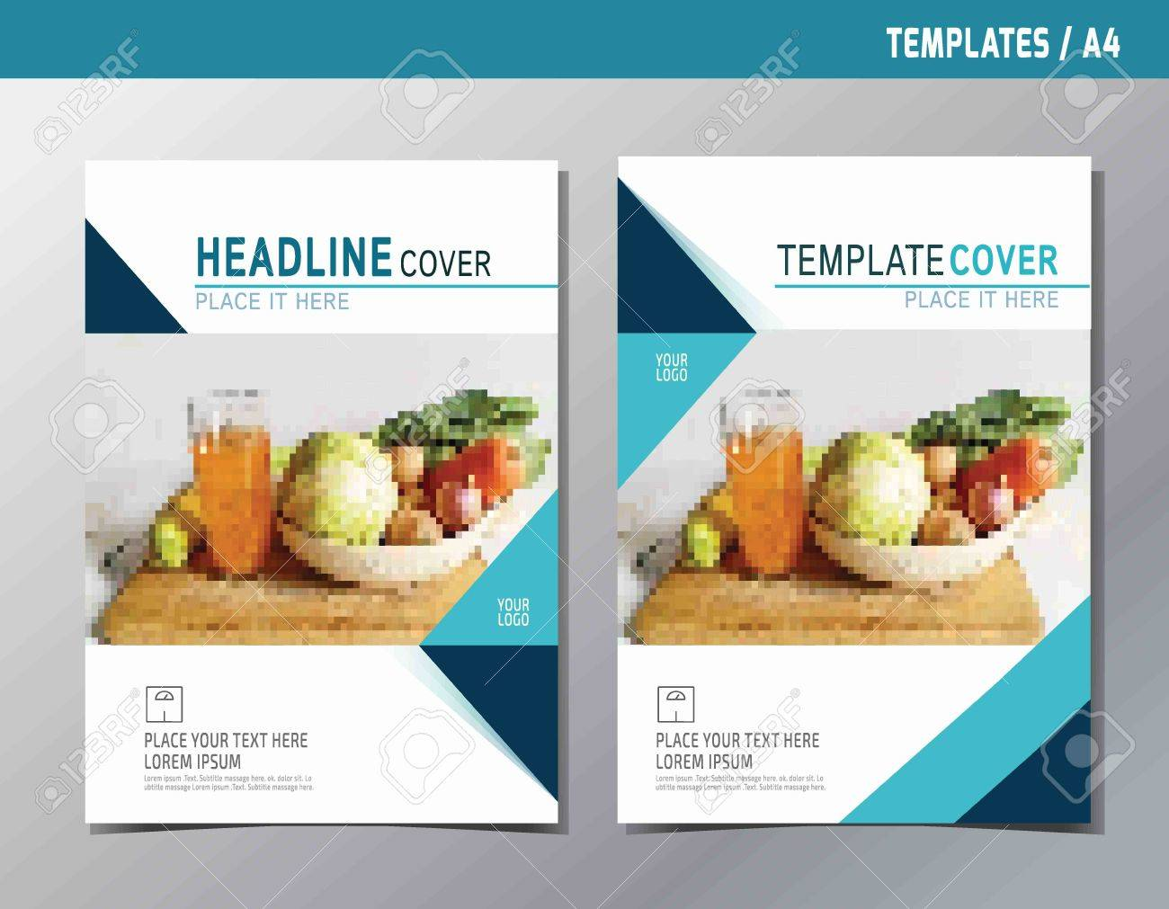 flyer leaflet brochure template A4 size design.abstract flat vector modern multipurpose style.annual report book cover layout. - 56491071