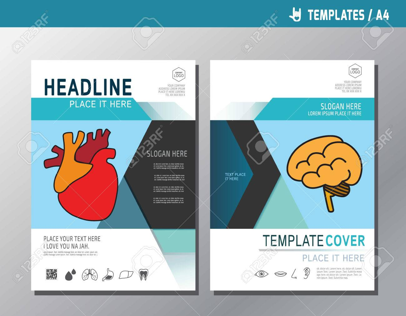 Health Leaflet Brochure Template A Size Designabstract Flat - Health brochure templates