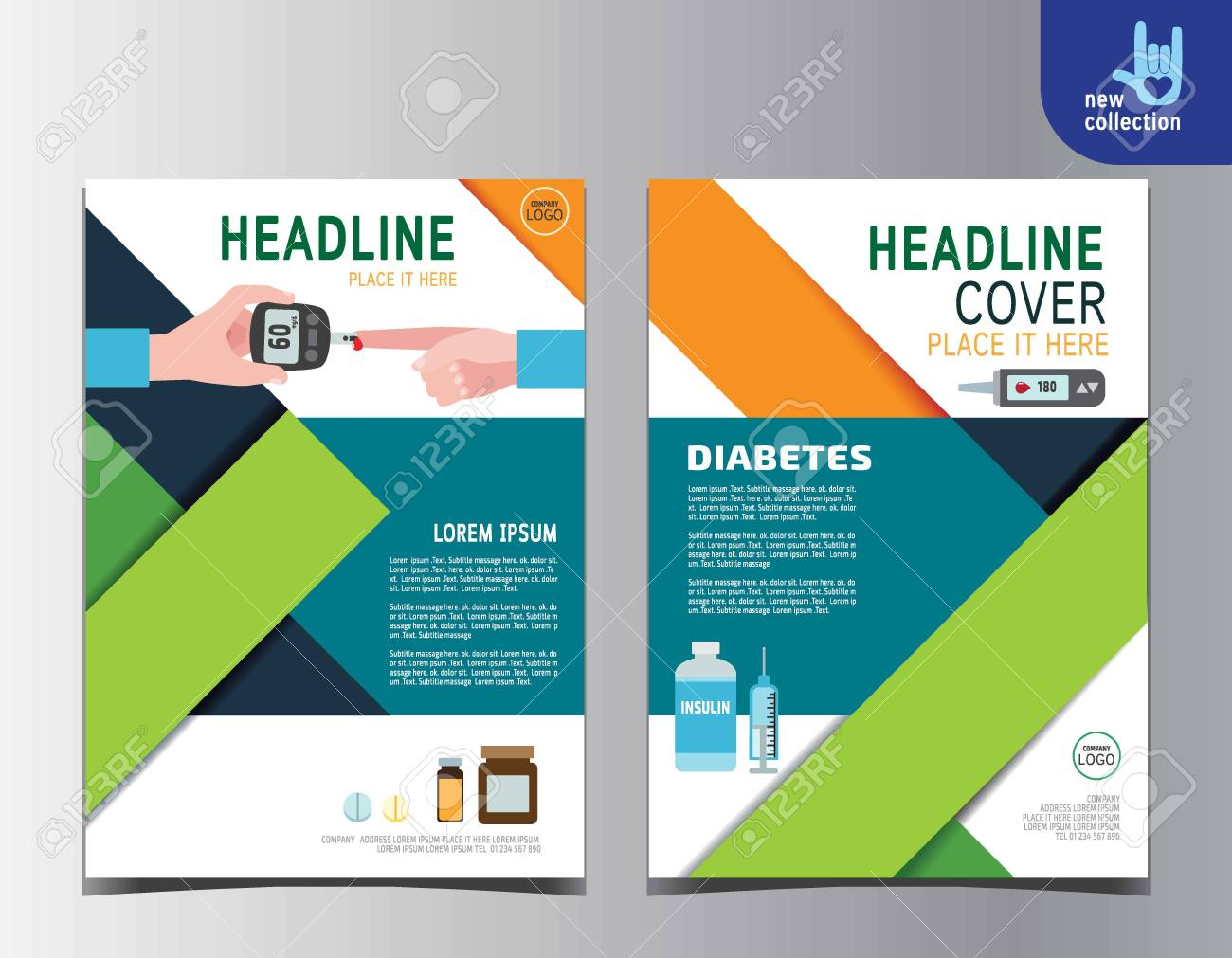 diabetes health flyer leaflet brochure template a4 size design