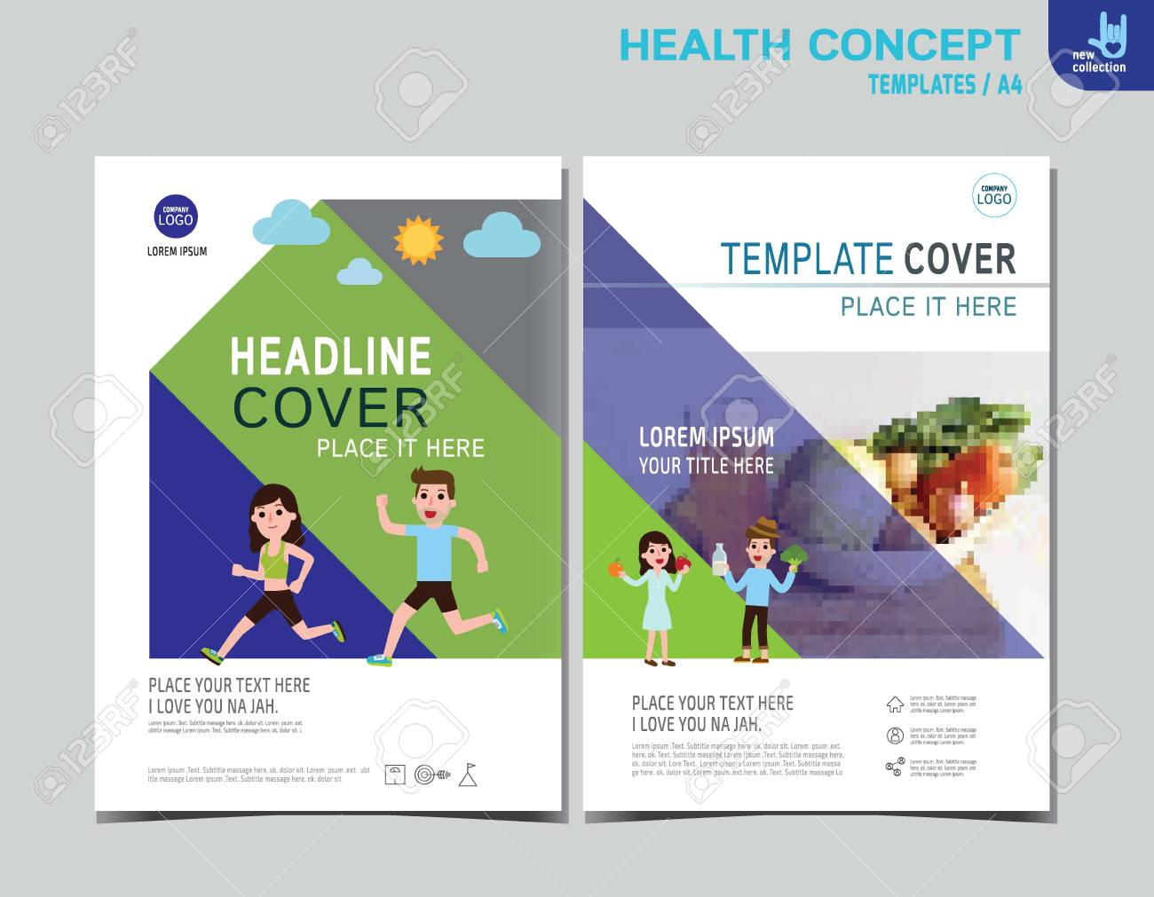 Healthy Flyer Brochure Layout Banner Poster Templateexercise