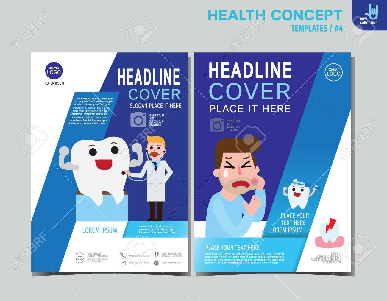 healthy flyer brochure layout banner poster template man with