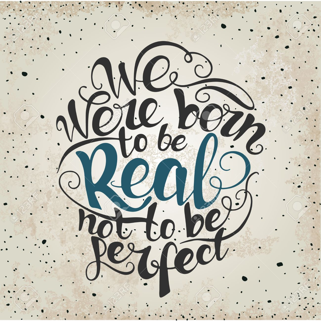 Design t shirt and print - Design T Shirt And Print Vector We Were Born To Be Real Not To Be