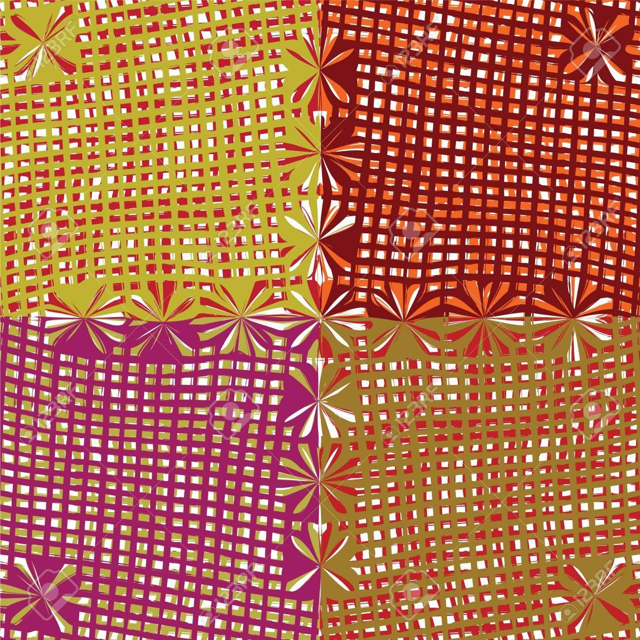 f0273a7747e8 Archivio Fotografico - Grunge a righe e quadretti colorati senza soluzione  di continuità