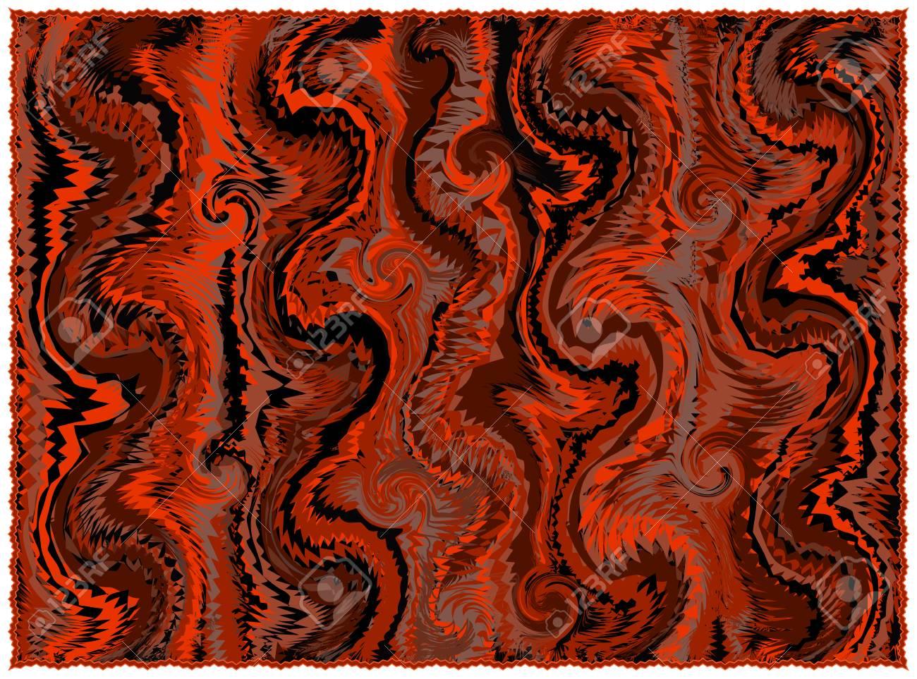 Banque Du0027images   Tapis Avec Motif Grunge Rayé Et Ondulé Dans Les Couleurs  Orange, Marron, Noir Avec Frange Isolé Sur Blanc