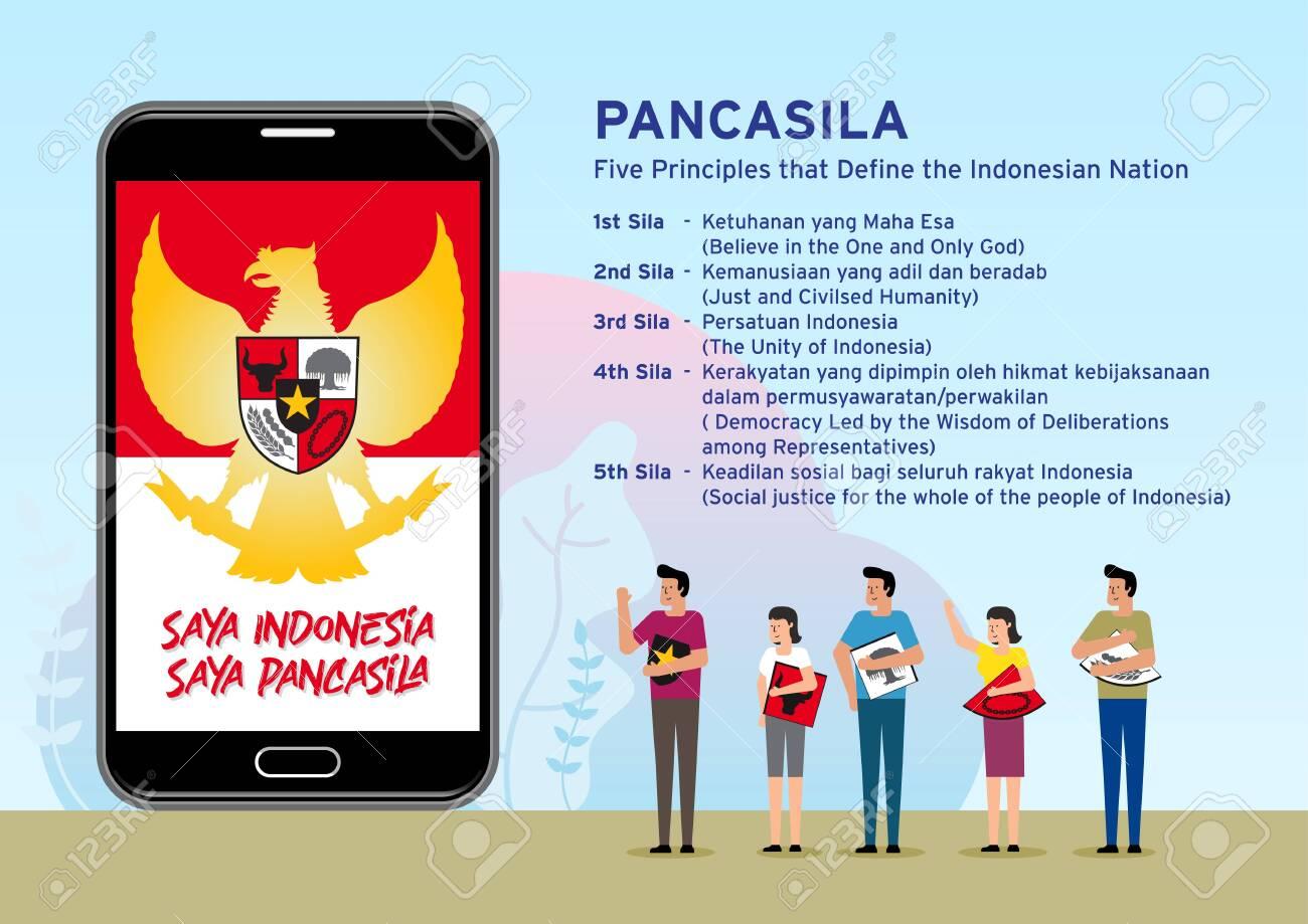 Indonesian Symbol Garuda Pancasila Saya Indonesia Saya