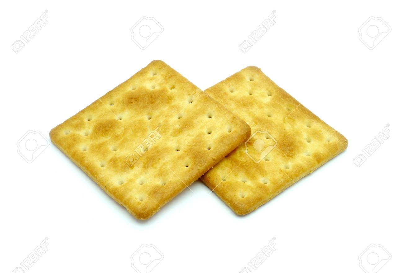 Crackers isolated on white Palatable Stock Photo - 14414100