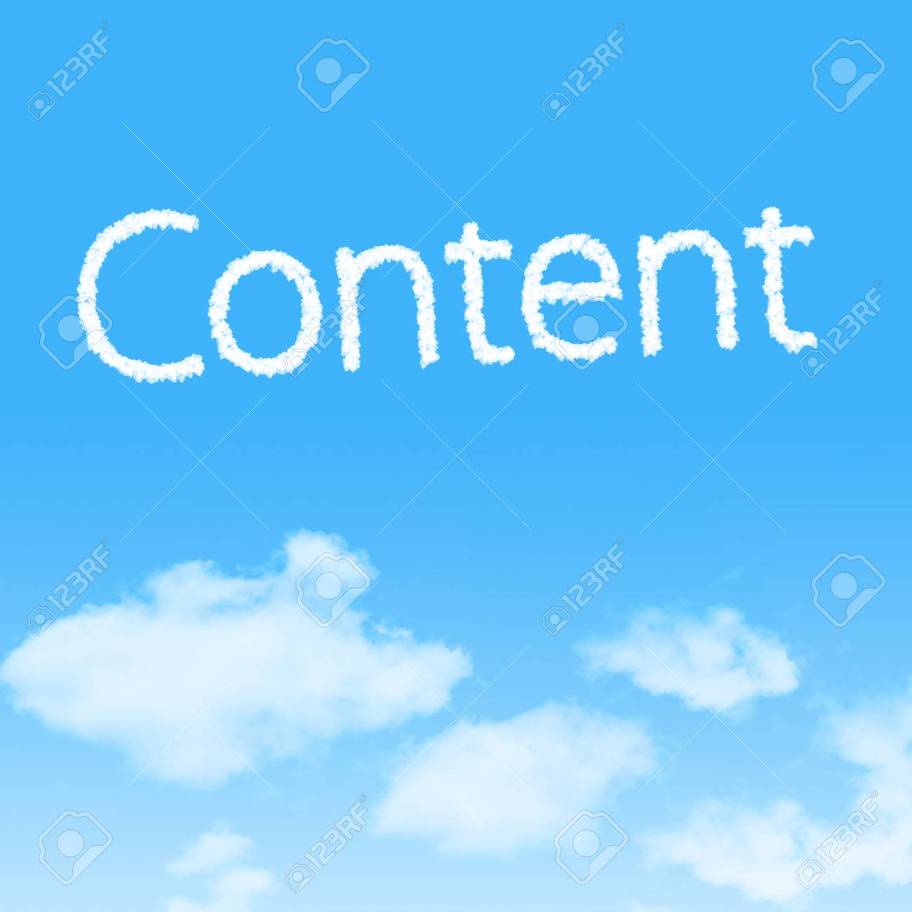 Content cloud icon with design on blue sky background Stock Photo - 27242464