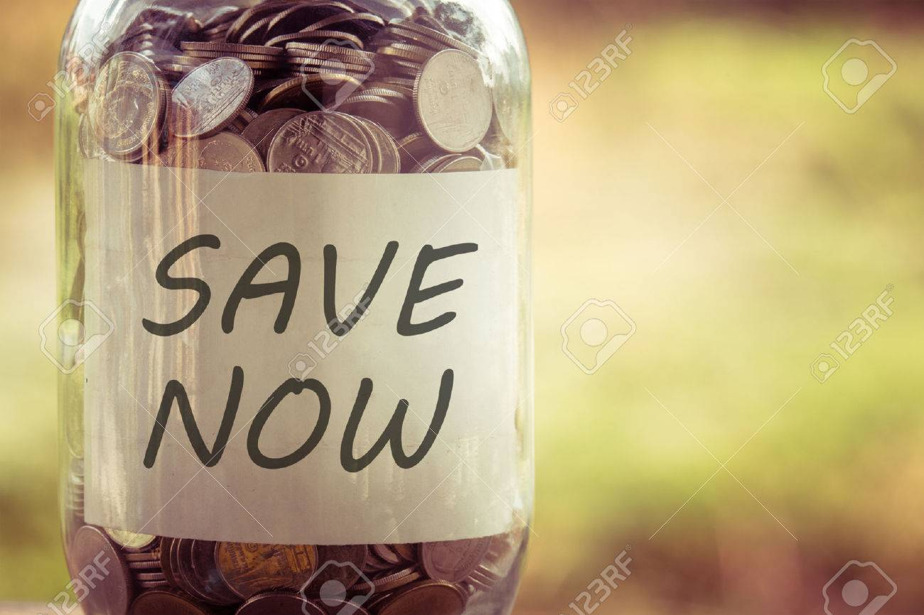 save money for investment concept money in the glass with filter effect retro vintage style Stock Photo - 47359732