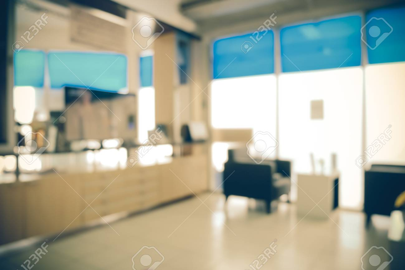Blurred Office Background With Filter Effect Retro Vintage Style